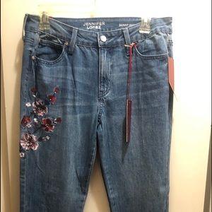 Jennifer Lopez Floral skinny Jeans